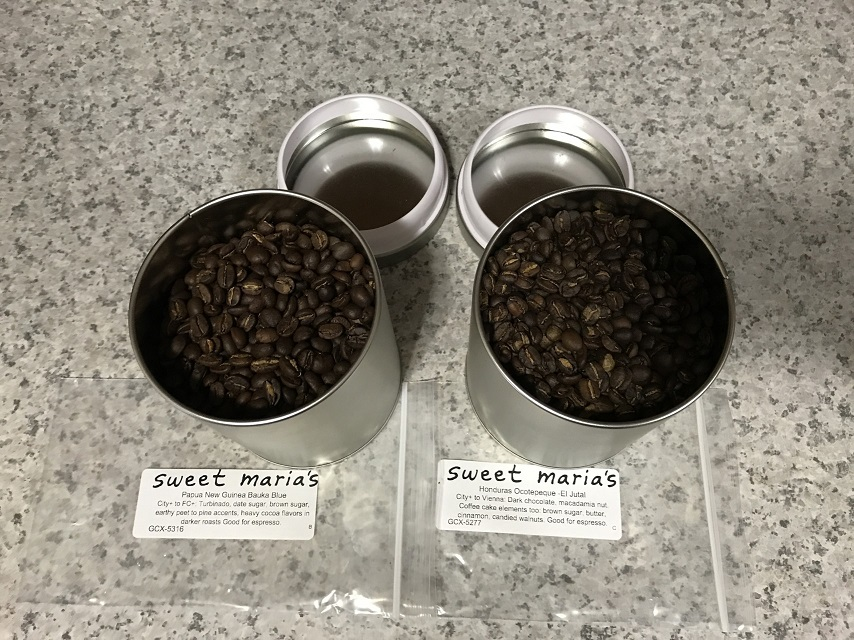 Sweet Maria's home roasted coffee