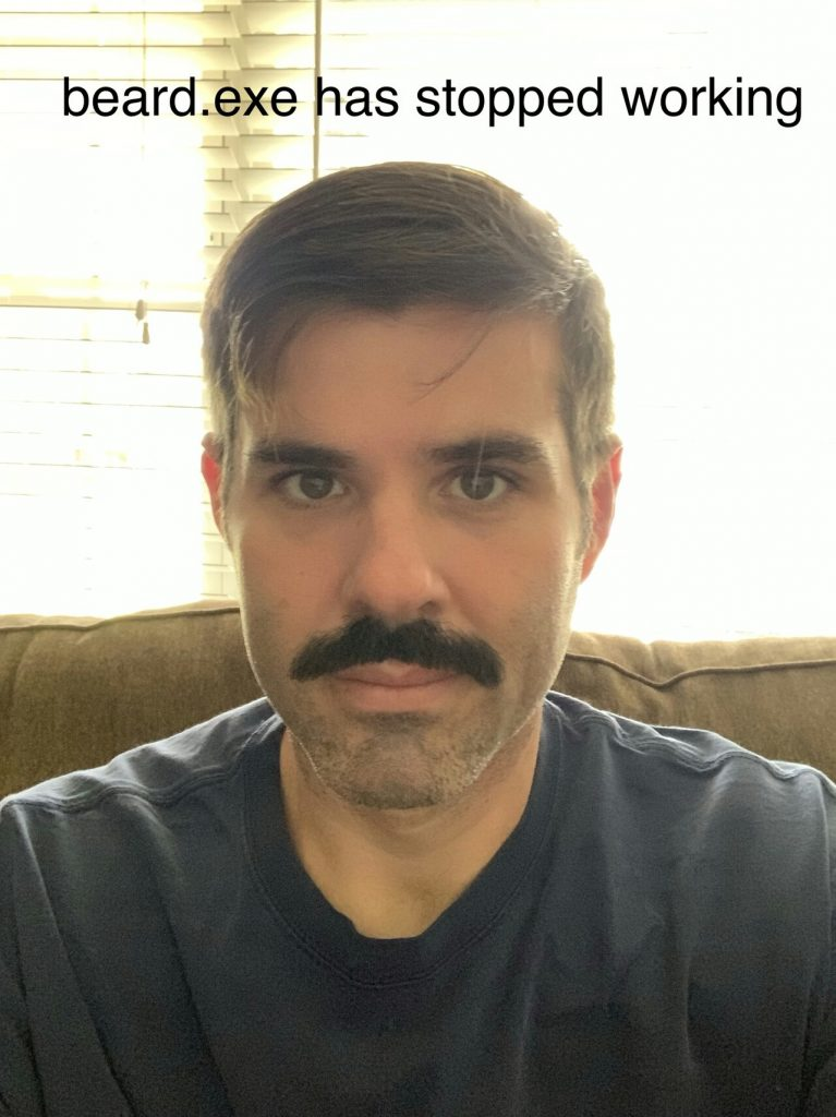 Mark Nokes with mustache