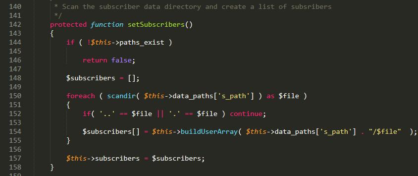 Sublime text code screenshot