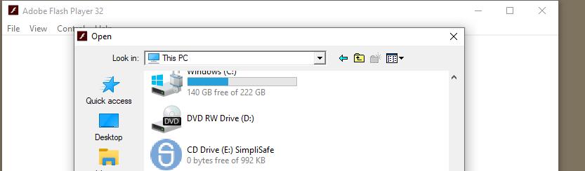 Nagigate to SimpliSafe file